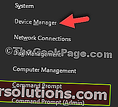 Win + X Device Manager