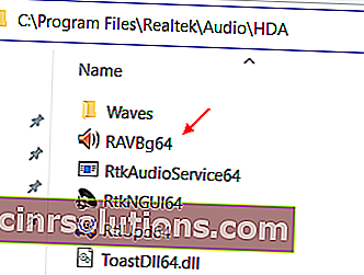 Buka Pengurus Audio Realtek Hd