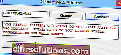 برنامج NoVirusThanks-MAC-Address-Changer