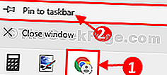 Pin ke Task Bar