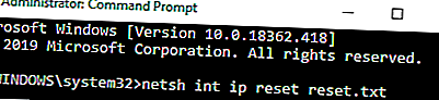 Netsh Int Ip Reset
