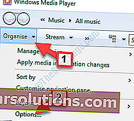 Pilihan Susun Atur Windows Media Player