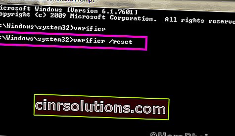 Cmd Reset Verifierdriver Verifier Detected Violation Windows 10